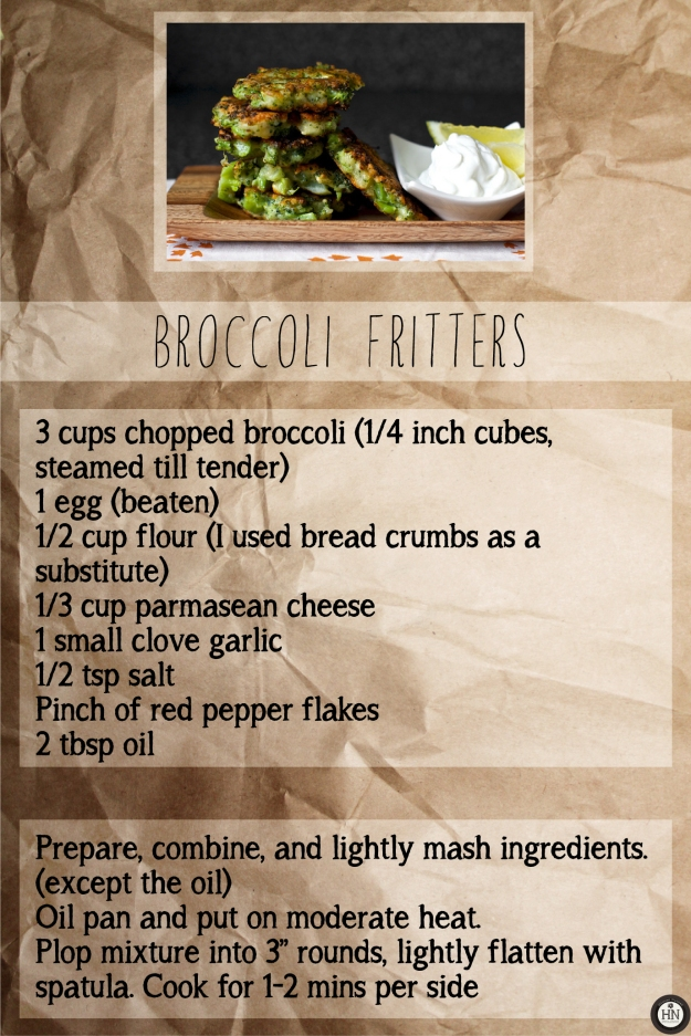 Broccoli Fritters!