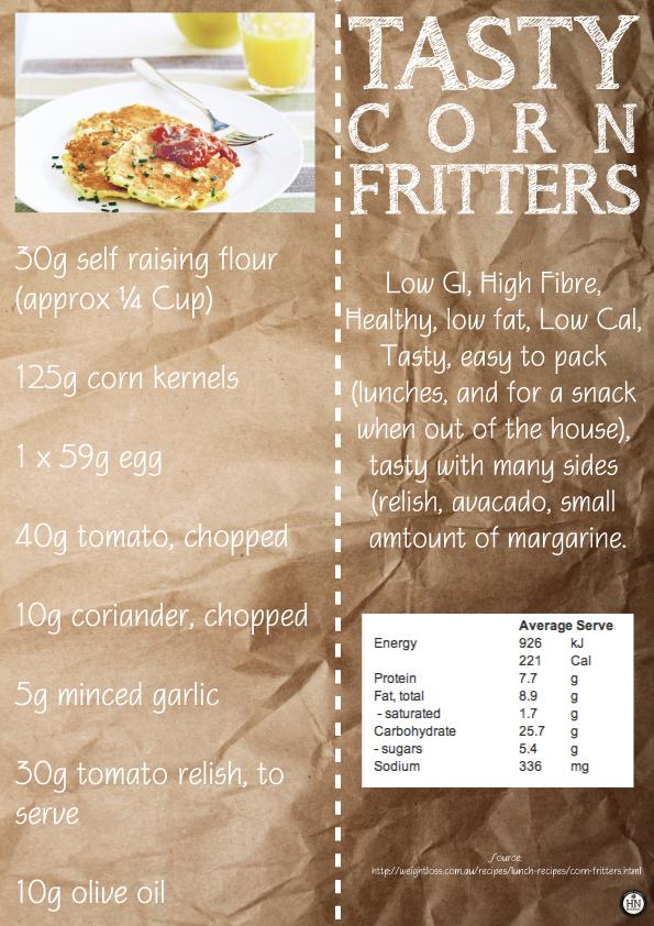 Tasty Corn Fritters