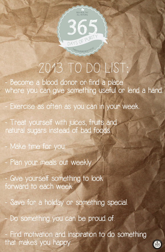 Welcome 2013: To Do List!
