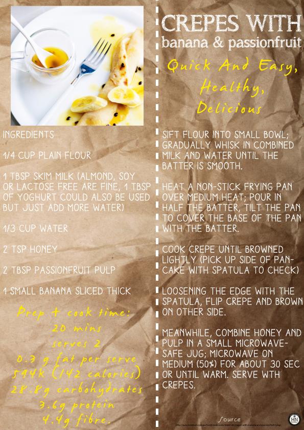 Healthy Breakfast- Crepes