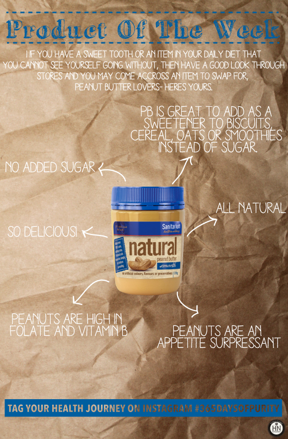 This weeks product is Peanut Butter- Natural, that is.
