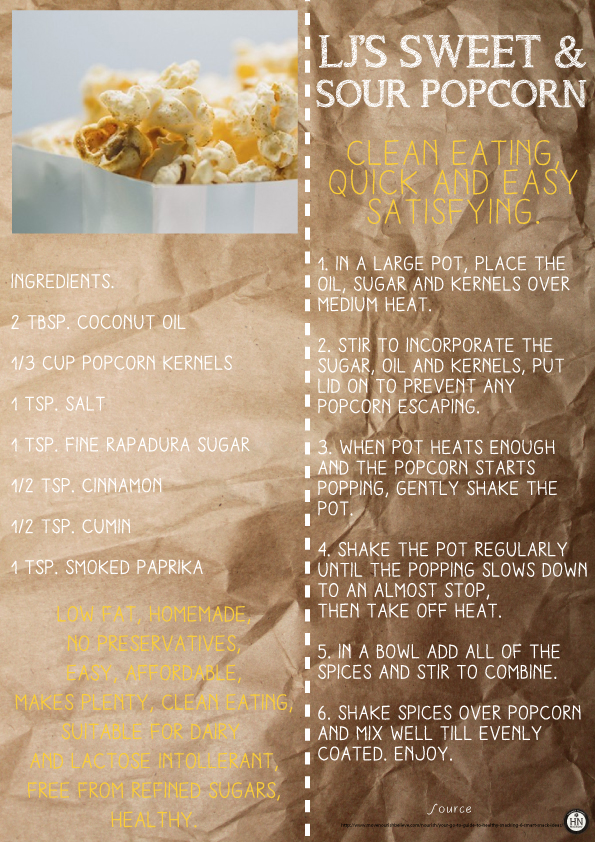 Lorna Jane's Sweet And Sour Popcorn!